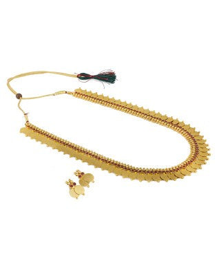 Aradhya Stone, Copper Jewel Set (Gold, Red)