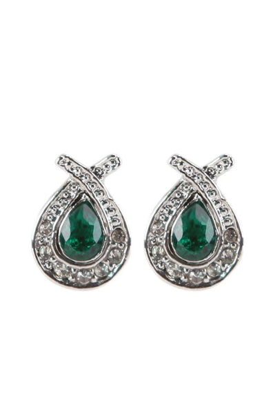 Framed Emerald Necklace with Earrings - JSENNEC0726