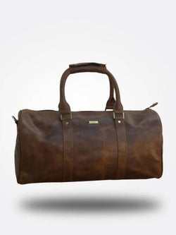 Strutt Unisex Crushed Brown Leather Duffel Bag $ SMD528