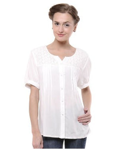 Viro White S/S Top