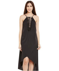 Miway Black American Crepe Shift Dress