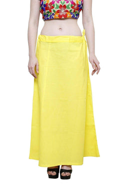 MY TRUST Cotton Yellow Color Saree Petticoats $ PT-27