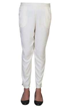 Vaniya Women Pant Cotton Rayon White Straight Pant $ VN-PT106