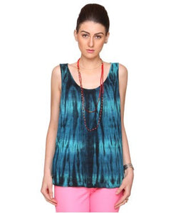 Bedazzle Turquoise And Black S/L Top
