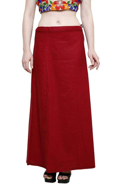 MY TRUST Cotton Maroon Color Saree Petticoats $ PT-10