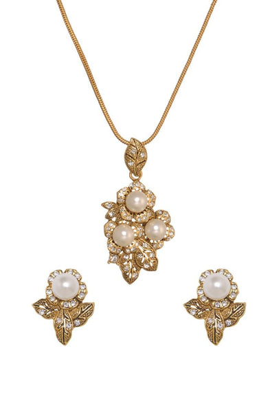 Shell Pearls Pendant Set - JNFHPES1951