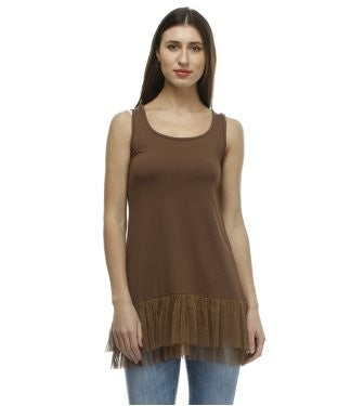 Glam a gal brown tunic