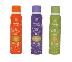 Naughty Girl PASSION LAVENDER MIST VOYAGE Deodorant for Women- (Set of 3) (150ml each)