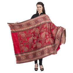 La Vastraa's Exotic Jamawar Thread Design Wool Shawl for Women-HKS0156