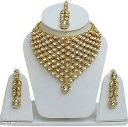 Gold Plated Alloy Metal Hand Crafted Work Women's Markis Necklace Set $ AF788624