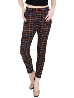 Baluchi Check Plaid Print Jeggings $ BLC_JEG_20