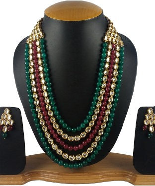 Aradhya Stone Jewel Set (Multicolor)