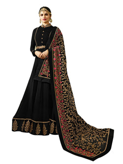 YOYO Fashion Latest Fancy Semi-stitched Faux Georgette Embroidered Anarkali Salwar Suit $ F1219