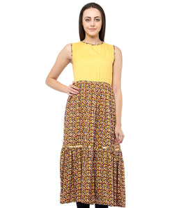 YELLOW COLOR RAYON HOMA KURTIS