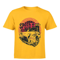 Partum Corde Premium Men's Modern Fit Round Neck T shirt SPEED IS WHAT I NEED $ SPEED IS WHAT I NEED2997