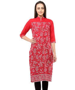 RED COLOR COTTON HOMA KURTIS