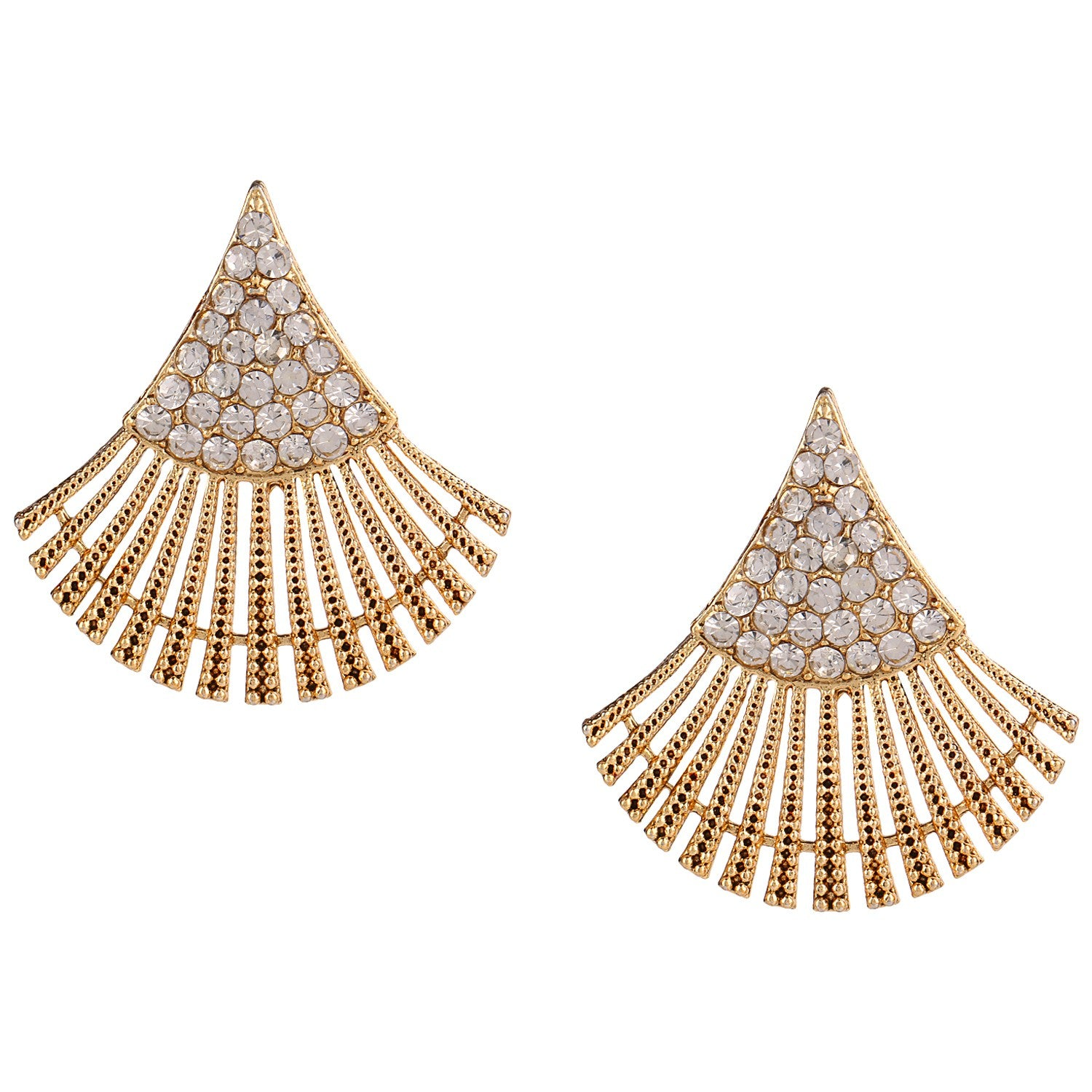 in online women store crystal eita low amazon buy designer plated dp gold stones earrings at collection white mahi for stud jewellery india prices
