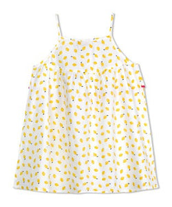 Budding Bees Girls Yellow Printed A-Line Dress