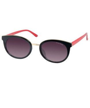 David Blake Black Round UV Protection Sunglass