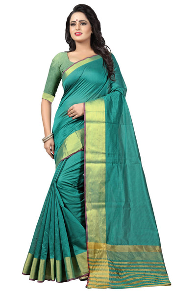 YOYO Fashion Latest Fancy Kota Dhupian Turquoise Saree $ SARI2581 Turquoise