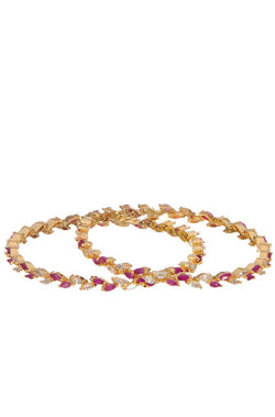 Ruby Romance Bangle Set