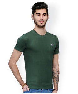 Dazzgear Men's Green Round Neck MTO-74 T-Shirt