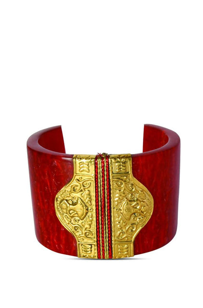 Bauble Burst Rave Red Cuff