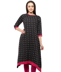 BLACK COLOR RAYON HOMA KURTIS