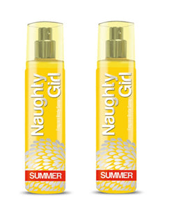 Naughty Girl SUMMER Perfume Spray for Women- Pack of 2 (135ml each)