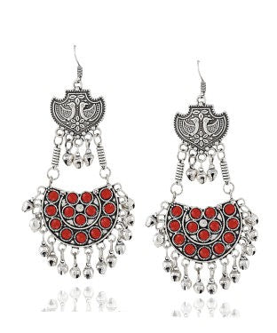 Aradhya Beads Silver Dangle Earring