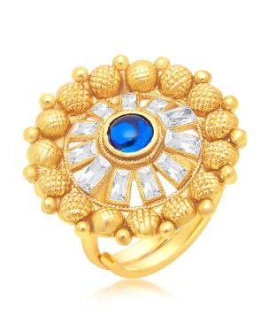 Sukkhi Charming Gold Plated Ring For Women