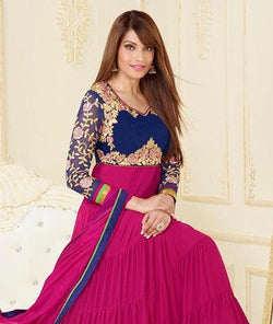 Faux Georgette Suit with Dupatta