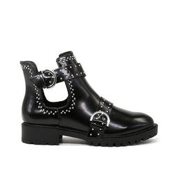 Londonn Rag Women's Black Ankle Cut Studdeed Boots-SH1460Black