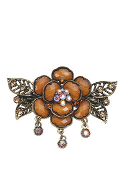 Brown Bloom Hair Clip - JIFDHCL6048