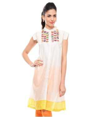 Rimzim Dadu Cream And Multi Tunic