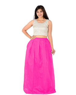 Muta Fashions Women's Semi Stitched Banglory Silk Pink Gown $ GOWN00035