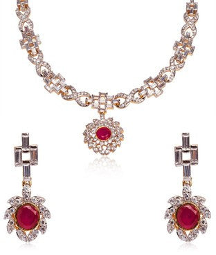 Bauble Burst Necklace With Earrings