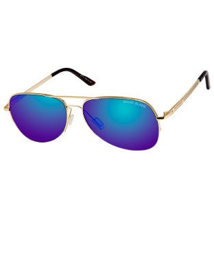 David Blake Blue Aviator UV Protected, Mirrored Sunglass