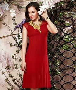 SURAT TEX Red Kurta