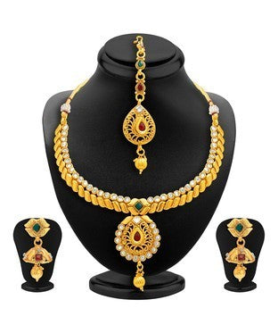Sukkhi Royal Gold Plated AD Necklace Set For Women Fashion And You