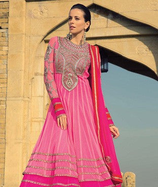 Net Suit With Dupatta And Lining