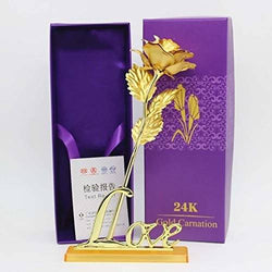 International Gift Valentine Gift Gold Rose 25 cm and Love Stand with Beautiful Carry Bag (25 cm, Gold) Exclusive Gift Items for Valentine Gift, Wedding Gift and Birthday Gift $ IGR-104