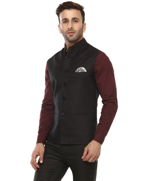 Lee Marc Blend Black Magic Nehru Jacket