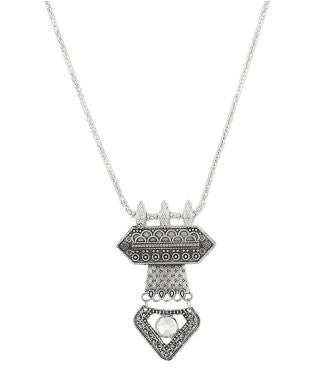 aradhya Crystal Silver Plated Metal Necklace