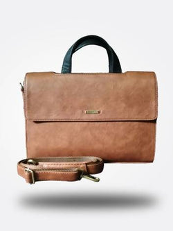Strutt Double Flap Brown Laptop Bag $ SML 179