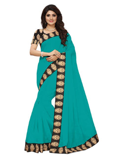 16to60trendz Turques Chanderi Lace Work Chanderi Saree $ SVT00063
