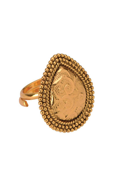 Pear Gold Ring - JSCDRIN1941