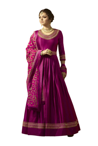 YOYO Fashion Pink Faux Georgette Anarkali Salwar Suit & YO-F1315