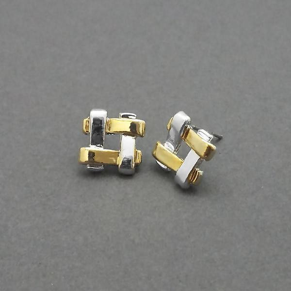 Tanishka Fashion 2 Tone Plated Stud Earrings $ 1310727