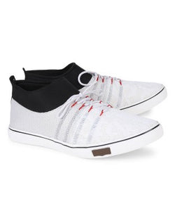 KACEY White PVC Sole Casual Shoes